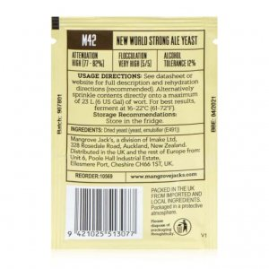 Дрожжи Mangrove Jack's M42 Strong Ale, 10 гр