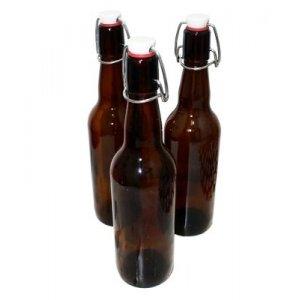 Комплект бутылок с бугельной крышкой 0,5 л (коричневая) 15 штук