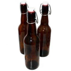 Комплект бутылок с бугельной крышкой 0,75 л (коричневая), 12 штук