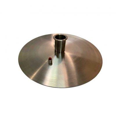 Крышка 3 мм нерж для куба «Абсолют» 25 л (д=32 см)