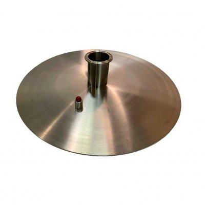 Крышка 3 мм нерж для куба «Абсолют» 37 л (д=36 см)