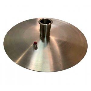 Крышка 3 мм нерж для куба «Абсолют» 50 л (д=40 см)