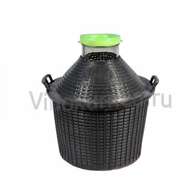 Банка 20 литров в пластиковой корзине