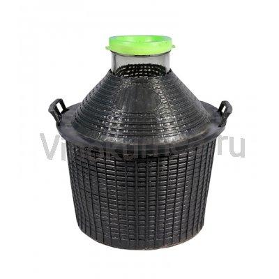 Банка 34 литров в пластиковой корзине