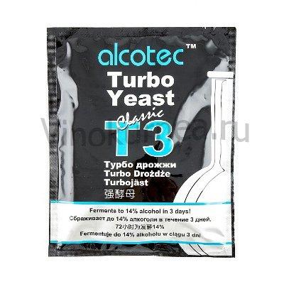 Дрожжи Alcotec «Turbo 3 Classic», 120 гр