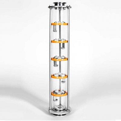 Колпачковая колонна 5 тарелок 3 колпака стекло (triclamp 2 дюйма)