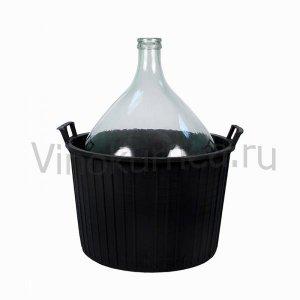 Бутыль 34 литра в пластиковой корзине