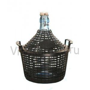 Бутыль 5 литров в пластиковой корзине