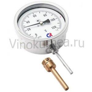 Термометр биметаллический радиальный 0-120 гр.